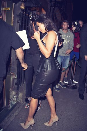 Kim Kardashian attends Liberty Ross Party at Annabels