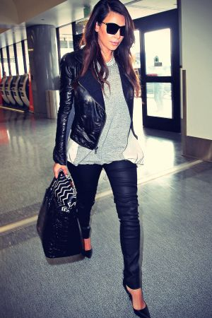Kim Kardashian departs from LAX airport