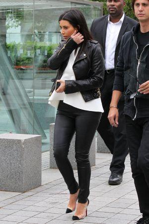 Kim Kardashian filming in London