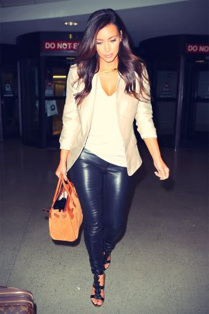 Kim Kardashian flight out of LAX