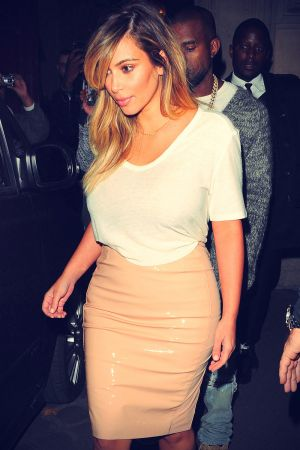 Kim Kardashian heading out for dinner at Costes in Paris