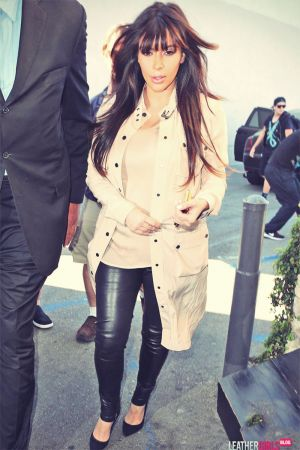 Kim Kardashian heads out for lunch with her family
