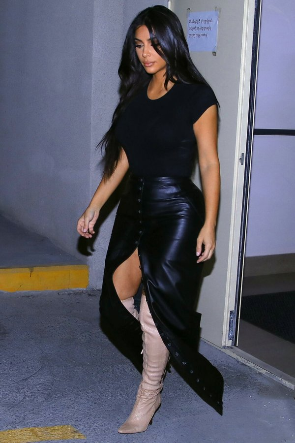 Kim Kardashian heads out of her hotel