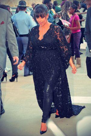 Kim Kardashian hits the carpet at the premiere of her new film