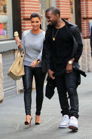 Kim Kardashian & Kanye West in NYC