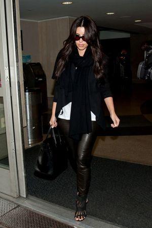 Kim Kardashian Lands in LA