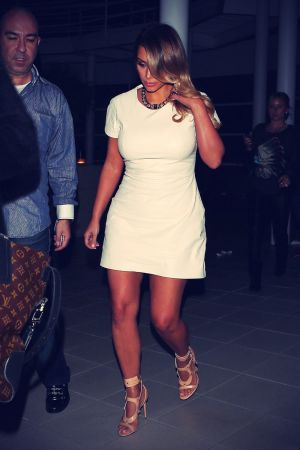 Kim Kardashian leaving a studio in Hollywood