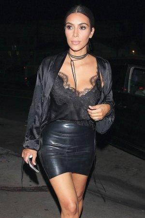 Kim Kardashian leaving Giorgio Baldi restaurant