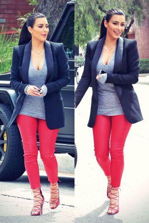 Kim Kardashian leaving The Villa Restaurant