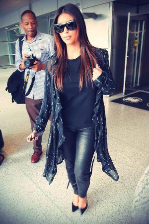 Kim Kardashian returned after a one day trip to Mexico City