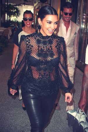 Kim Kardashian shopping at Bal Harbour Mall