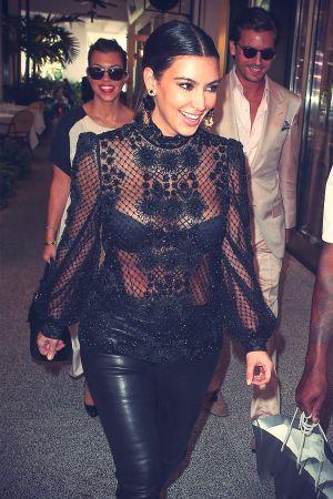 Kim Kardashian shopping at Bal Harbour Mall