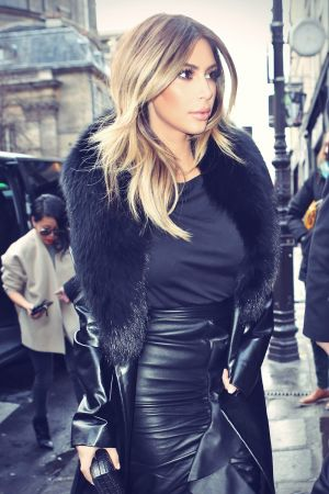 Kim Kardashian shopping at Tom Ford