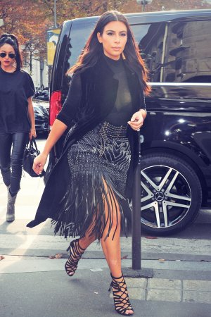 Kim Kardashian was seen shopping in Paris