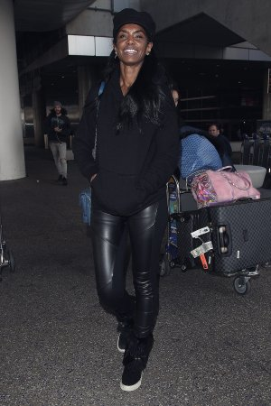 Kim Porter seen at LAX