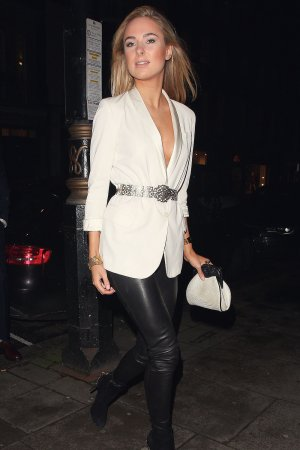 Kimberley Garner arriving at Hakkasan restaurant