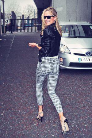 Kimberley Garner outside ITV Studios