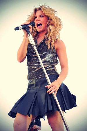 Kimberly Perry performs at iHeart Radio Music Festival Village