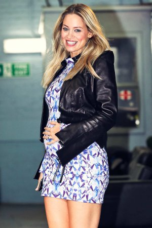 Kimberly Wyatt outside The London Studios