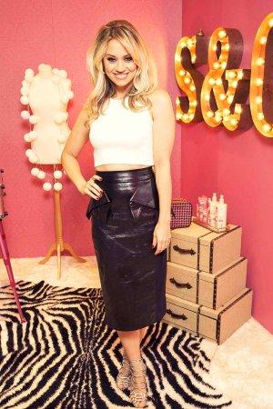 Kimberly Wyatt photoshoot for Soap & Glory's live Beauty Boudoir