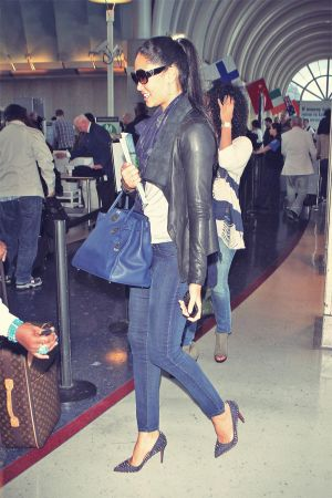 Kimora Lee Simmons at LAX