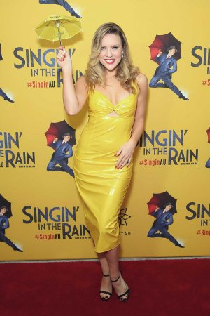 Kirby Burgess arrives for opening night of Singin' In The Rain