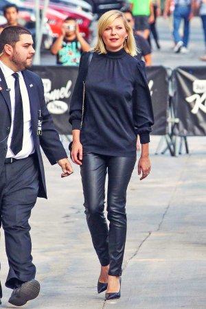 Kirsten Dunst seen at Jimmy Kimmel Live