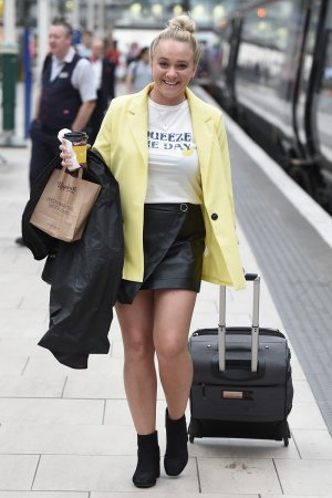 Kirsty-Leigh Porter at Piccadilly Train Station