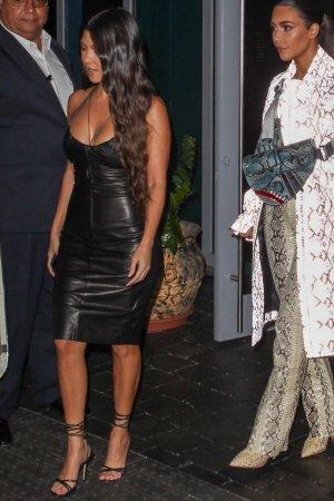 Kourtney Kardashian attends a fashion VIP party