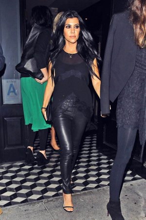 Kourtney Kardashian attends Brian Bowen Smith Metallic Life Exhibit