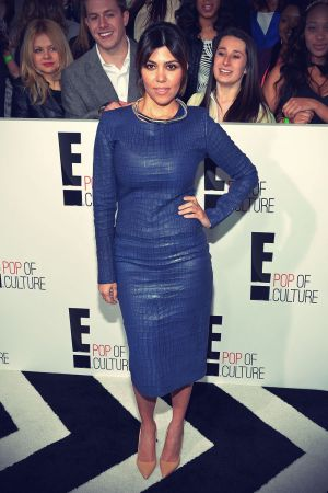Kourtney Kardashian attends the E! 2013 Upfront