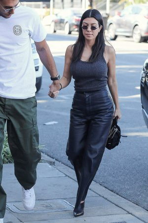 Kourtney Kardashian head to lunch