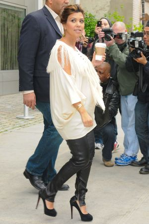 Kourtney Kardashian leaves hotel in NYC