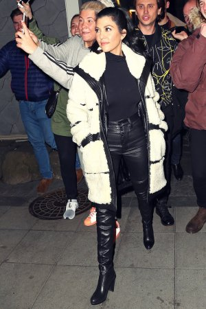Kourtney Kardashian leaving a restaurant in Iceland