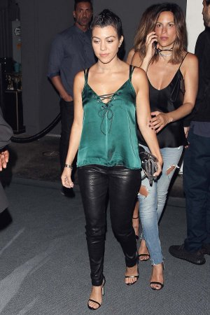 Kourtney Kardashian leaving The Doheny Room