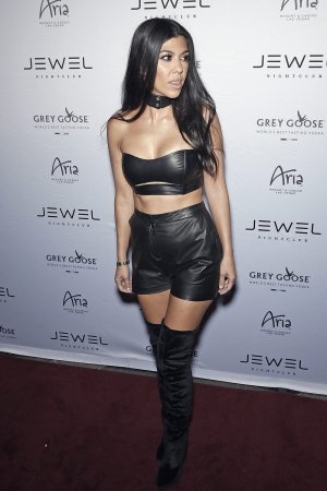 Kourtney Kardashian on the red carpet at the Jewel Nightclub Grand Opening Weekend