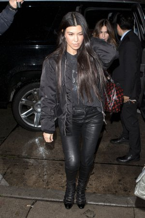 Kourtney Kardashian seen arriving for dinner at Craigs