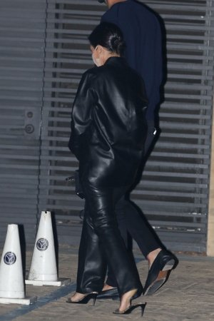 Kourtney Kardashian seen exiting Nobu after having dinner