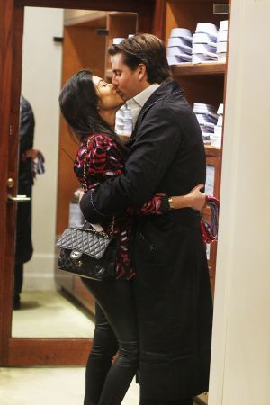 Kourtney Kardashian shopping at Bergdorf Goodman