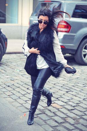 Kourtney Kardashian shopping for baby clothes