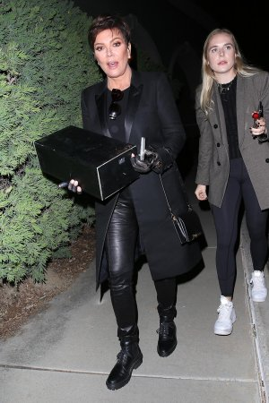 Kris Jenner attends Travis Scott's early birthday party