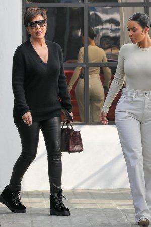 Kris Jenner & Kim Kardashian out in Calabasas