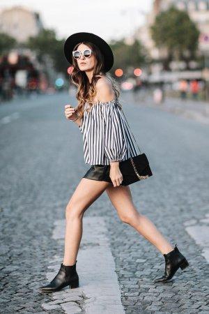 Kristi Gogsadze street fashion in Paris