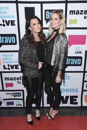 Kyle Richards and Caroline Stanbury at Watch What Happens Live