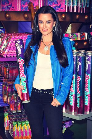 Kyle Richards participates in SweeTARTS Candy Grab