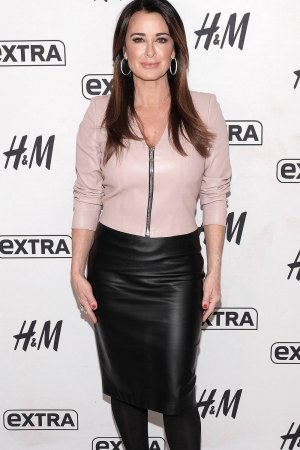 Kyle Richards visits Extra at their New York studios