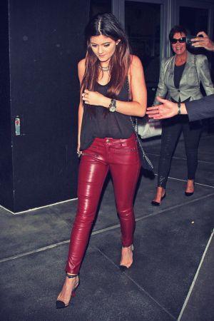 Kylie Jenner attending the Justin Bieber concert