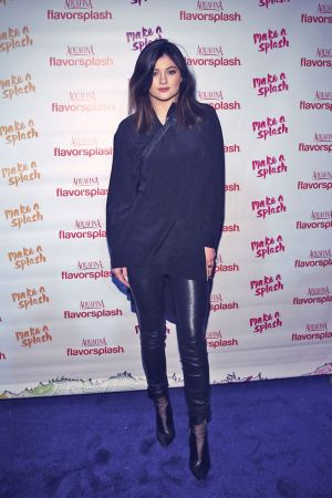 Kylie Jenner attends Aquafina FlavorSplash Super Bowl XLVIII Party