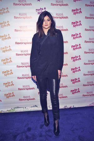 Kylie Jenner attends Aquafina FlavorSplash Super Bowl XLVIII Party