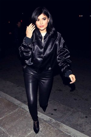 Kylie Jenner heads to dinner with friends at Mastros Steakhouse